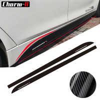 5D Carbone Fibre Côté Jupe Seuil Racing Stripe pour BMW F30 F31 F32 F33 F22 F23 F15 F85 F10 E60 E61 G30 E90 M Performance autocollant
