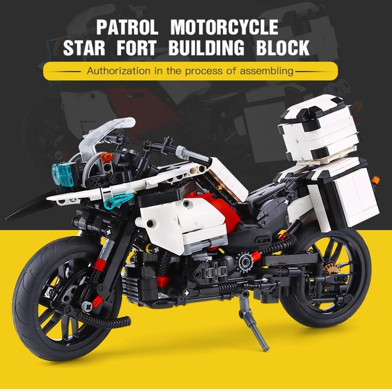 Legoed technic patrouille moto vitesse lourd Rallye LepinS moteur modèle blocs de construction briques à monter soi-même jouets avec amour cadeaux de noël