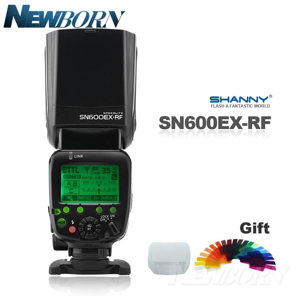 Shanny SN600EX-RF 2.4G Sans Fil Radio HSS E-TTL Esclave Flash Speedlite pour Canon 70D 60D 7D 7DII 6D 5DII 5DIII 700D 650D 1DX
