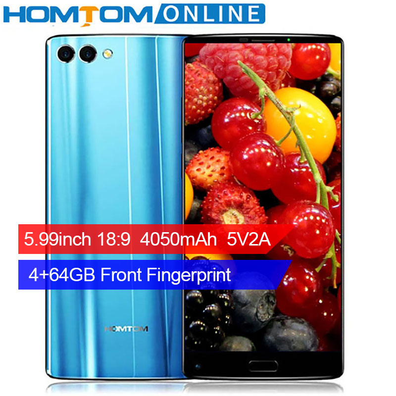 HOMTOM S9 Plus 16MP Doppelkameras Smartphone 5,99 Zoll 18:9 lünette-weniger Display 4050 mAh Vorne Fingerabdruck 4 GB 64 GB Octa-core Telefon