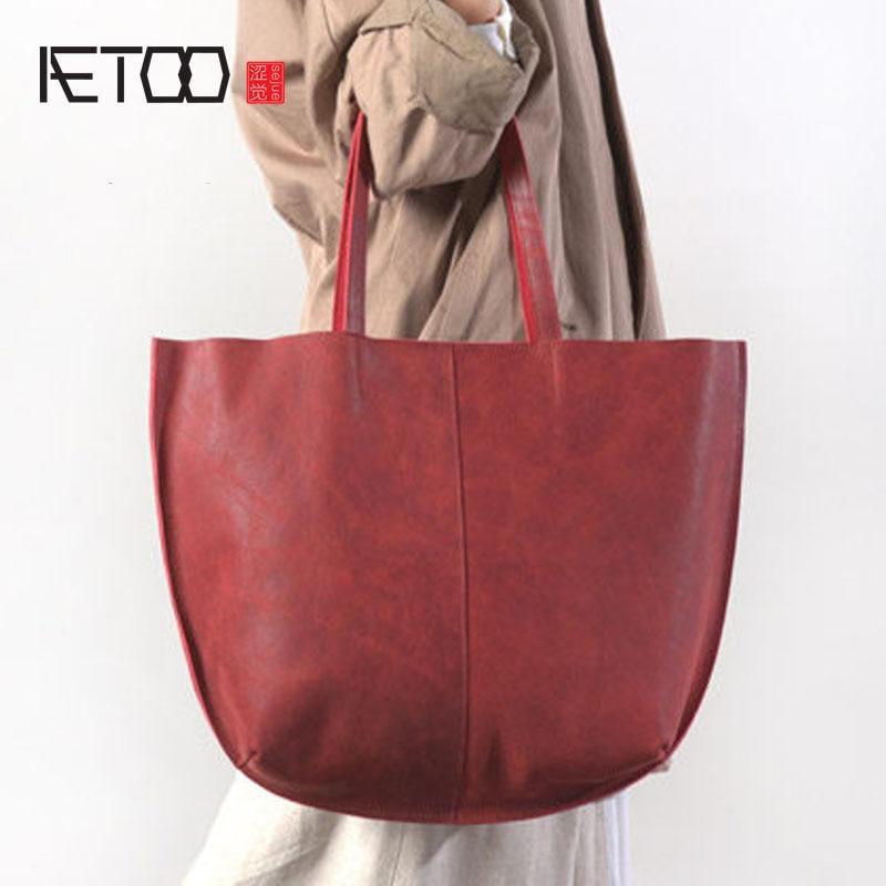 Aetoo новые кожаные сумки Ретро Почтальон повязка на голову из воловьей кожи дубления кожи сумка