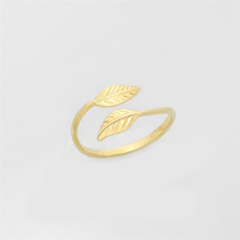 Mode Verstelbare Gold Filled Bladeren Leaf Takken Ringen voor Vrouwen - Mode-sieraden - Foto 6
