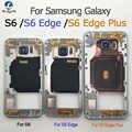 삼성 galaxy s6 g920f s6 edge g925f s6 edge plus g928f 백 하우징 + nfc + 부품 용 중간 프레임 섀시 플레이트 베젤