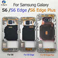 Original Middle Frame Chassis Plate Bezel For Samsung Galaxy S6 G920F S6 edge G925F S6 edge plus G928F Back Housing + NFC + Part