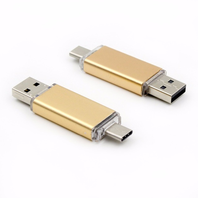O envio gratuito de Armazenamento USB 2.0 Memory Stick Flash Drive 16 GB 32 GB Para MacBook Tipo-c Do Telefone Móvel