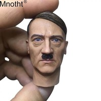 Mnotht 1/6 General Head Sculpt Model World War II Male Soldier Moustache Head Carvings Toy for 12in Action Figure Collection ma