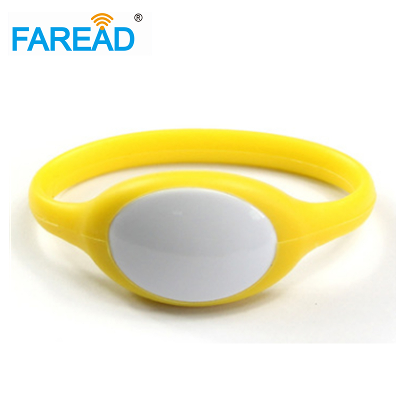 X100pcs Free Shipping 13.56mhz Ntag216  RFID Wristband  For Wimming Pool, Cooling Store