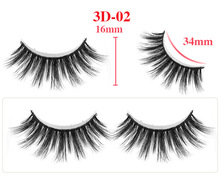 1 Pair 3D Mink Natural Long Full Strip Eyelashes