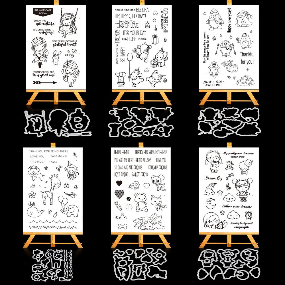 AZSG Happy Friendship Transparent Clear Silicone Stamp/Seal for DIY Scrapbooking/photo Album Decorative Clear Stamp Sheets lovely animals and ballon design transparent clear silicone stamp for diy scrapbooking photo album clear stamp cl 278