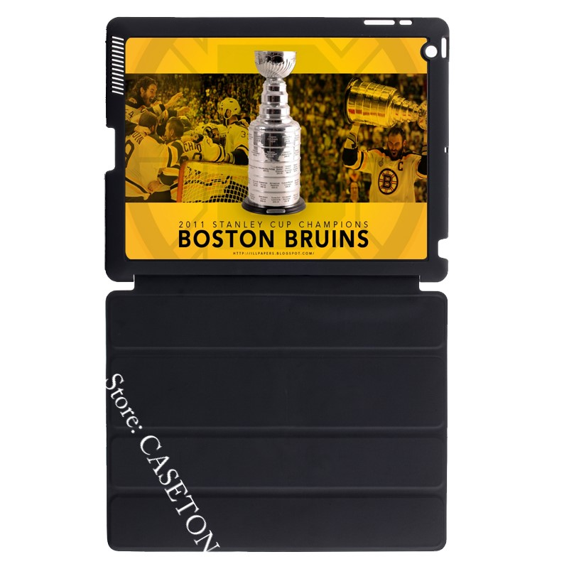 Boston Bruins Ice Hockey Fans Cover Case For Apple iPad Mini 1 2 3 4 Air Pro 9.7 10.5 12 ...