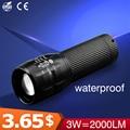 Mini Lanterna 2000 Lumen Puissante Poderoso Levou Lanterna 18650 Q5 Lampe Torche Lampe De Poche À Prova D' Água 3 Modos Com Zoom