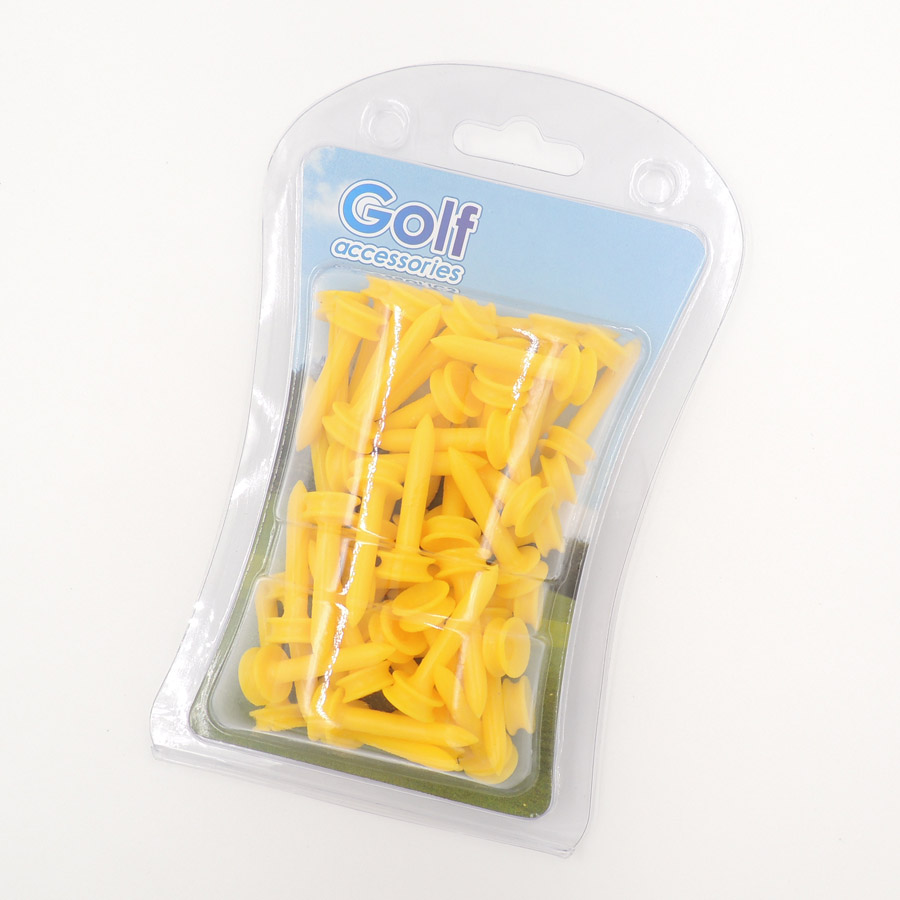 50Pcs Golf Ball Tees Durable Plastic limited golf tees Step down golf tees