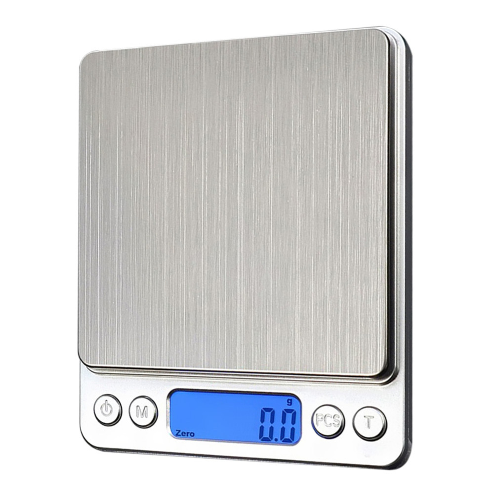 Metal Kitchen Scale 1000g x 0.1g Mini Electronic Digital Scales Pocket Case Precision Jewelry Weight Scale Sliver Libra