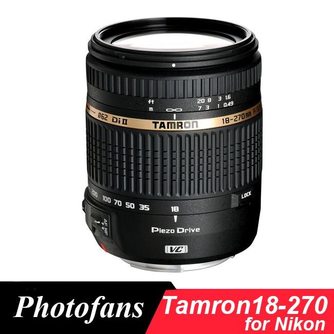 Tamron 18-270mm F/3.5-6.3 DI-II VC PZD 18-270  Lens for Nikon D3400 D3300 D5500 D5200 D5300 D5600 D60 D90 D7000 D7100 D7200 tamron 16 300mm f 3 5 6 3 di ll vc pzd macro nikon объектив