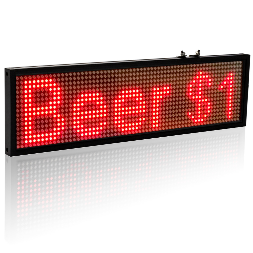 64 16 Pixels P5mm Wif Auto LED Signs Panel 12V Car Scrolling Ad Message Display Board SMD Indoor Screen Support iOS phone in LED Displays from Electronic Components Supplies