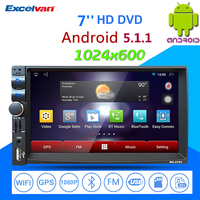 7 Car Radio Media Player Android 5 1 1 Quad Core Bluetooth Touch Screen GPS Mirror