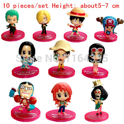 10 pieces / set  Size: 5 - 7 CM PVC plastic model one piece  action figures hobbies plush doll  --- np 11 111 1111 11 1 cycling grips bicycle bar end handlebar pair blue