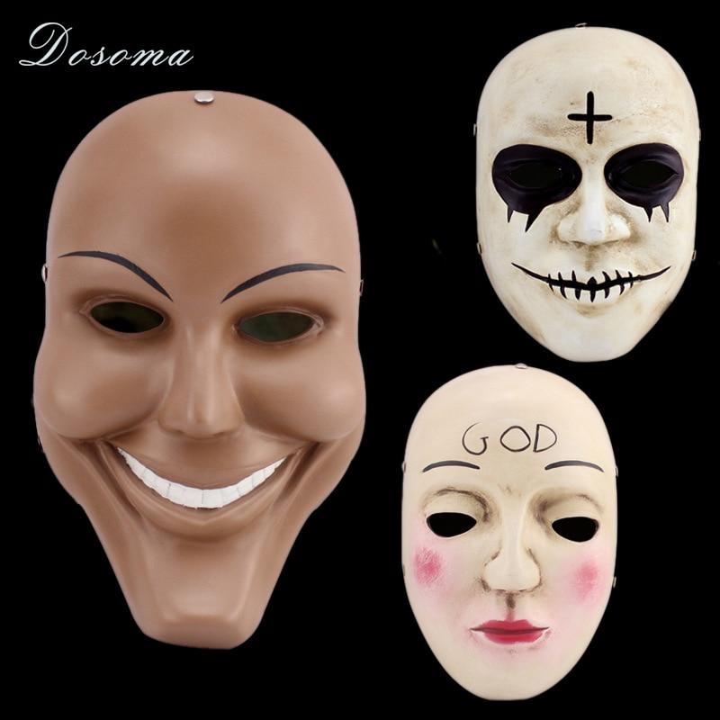 a purga mscara cruz deus mscaras de halloween cosplay partido prop coleo completa rosto resina