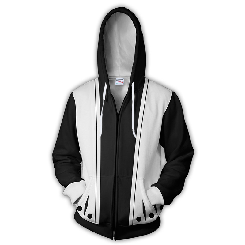 2018 new fashion Cool sweatshirt Hoodies Men women 3D print KENPACHI ZARAKI 11TH DIVISION Tee hot Style Streetwear Long sleeve