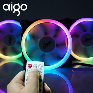 AIGO C5 120mm Case RGB Cooling Fan SYNC With Motherboard Controller For Computer 12V control Cooler Wireless IR Remote Quietly