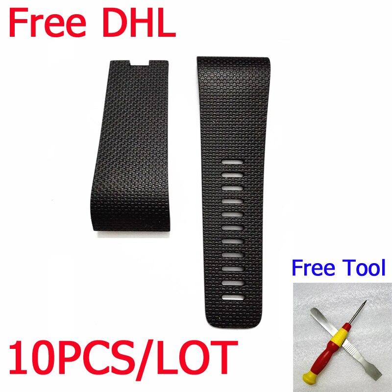 imágenes para 10 unids DHL Para Oleada Fitbit Pulsera Heart Rate tracker Reemplazo de correas de Reloj Bandas De Muñeca de Silicona Inteligente muñequera + conductor srew
