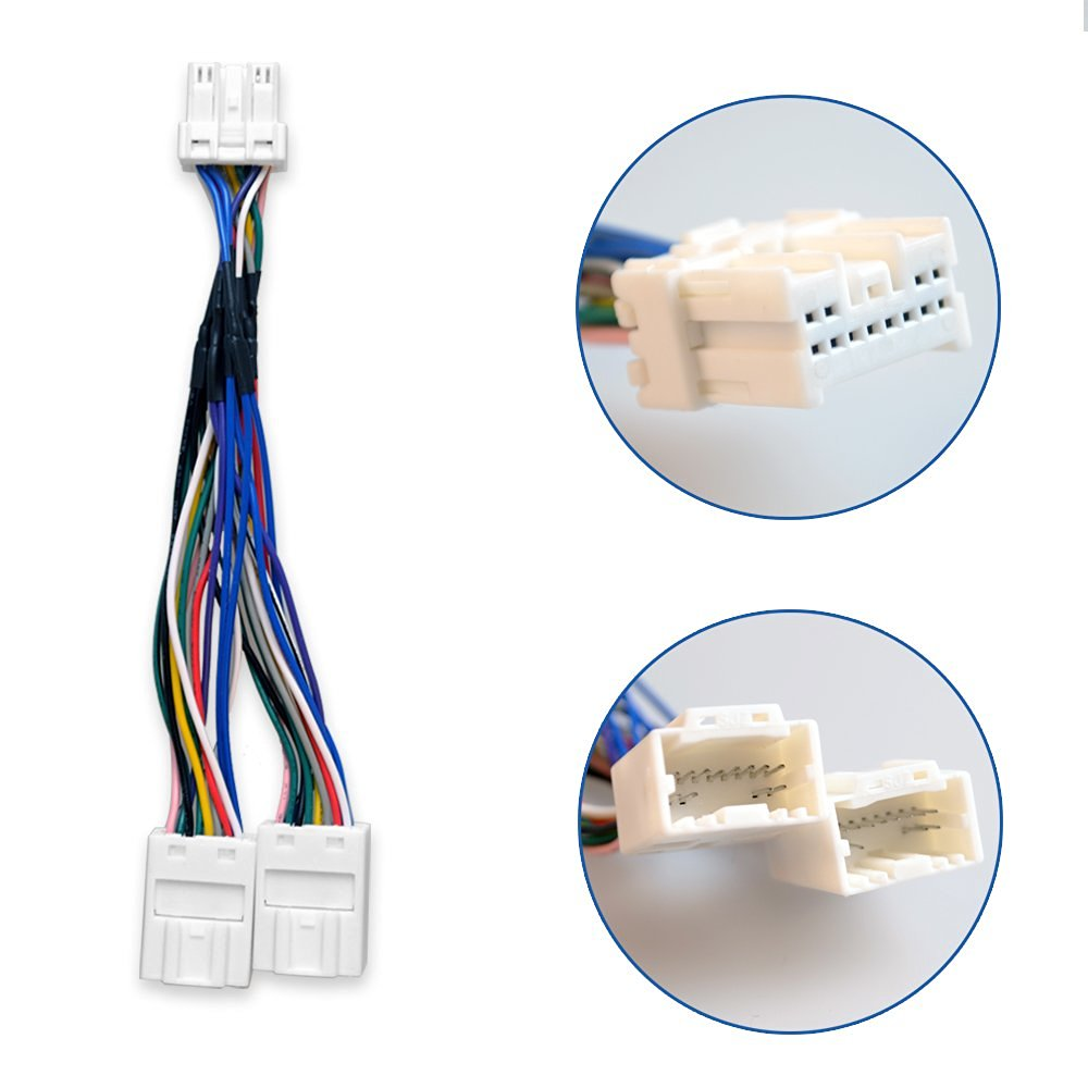 y splitter car radio cable wiring harness for external cd changer mp3 navigation fit nissan maxima [ 1000 x 1000 Pixel ]