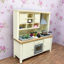 G07-X149 children baby gift Toy 1:12 Dollhouse mini Furniture Miniature rement Doll accessories One cabinet counter 1pcs