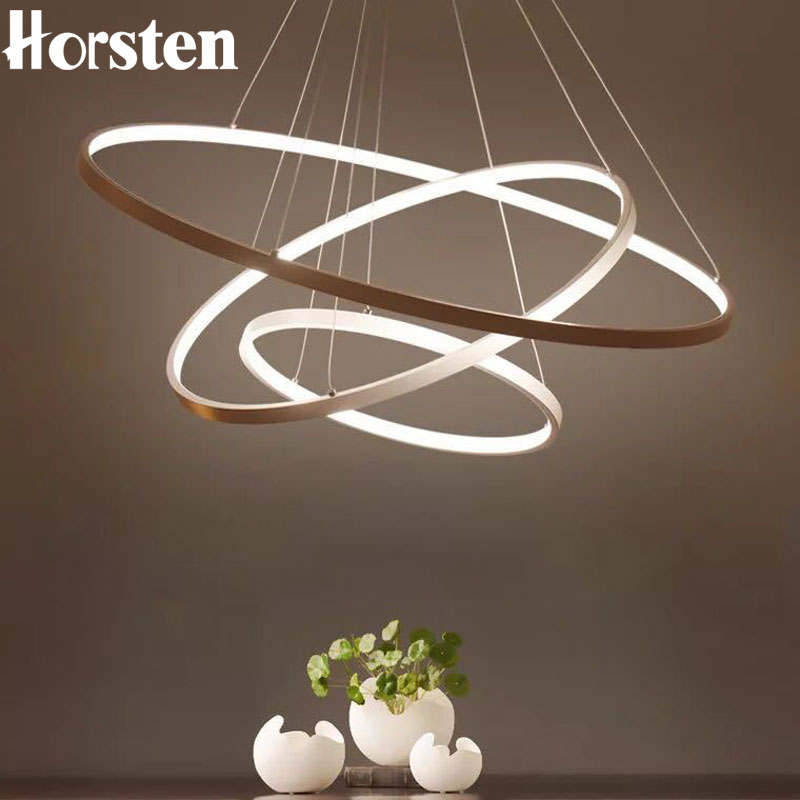 Modern LED Pendant Lights Adjustable 3 Rings Pendant Lamp For Living Room Foyer Dining Room Restaurant Bar Hanging Lighting 220V modern pendant lights for restaurant glass bottle pendant lamp 1 3 5head bar dining room fashion plants hanging lamp
