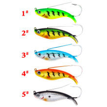 Купить с кэшбэком 1pcs Minnow 21g 85mm jig for fishing lure single hook spoon spinner crank swim jerk bait wobblers jigging pesca isca artificial