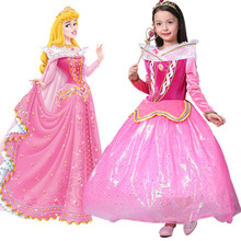 Girls Sleeping Beauty Cosplay Princess Dress Kids Classic Aurora Costume Children Tutu Filles Party Vestidos