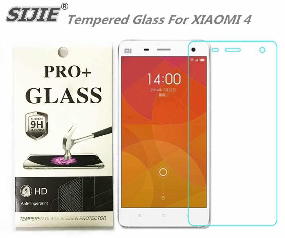 Tempered Glass For XIAOMI 4 MI4 M4 Screen protective 5 inch cover screen protective smartphone toughened case 9H on crystals