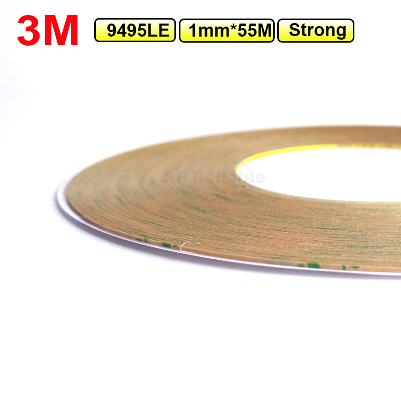 (1.5mm*55M*0.17mm) High Strength 3M 9495LE 300LSE Clear Adhesive Tape For Phone Tablet GPS Touch Screen Windows Display Lens