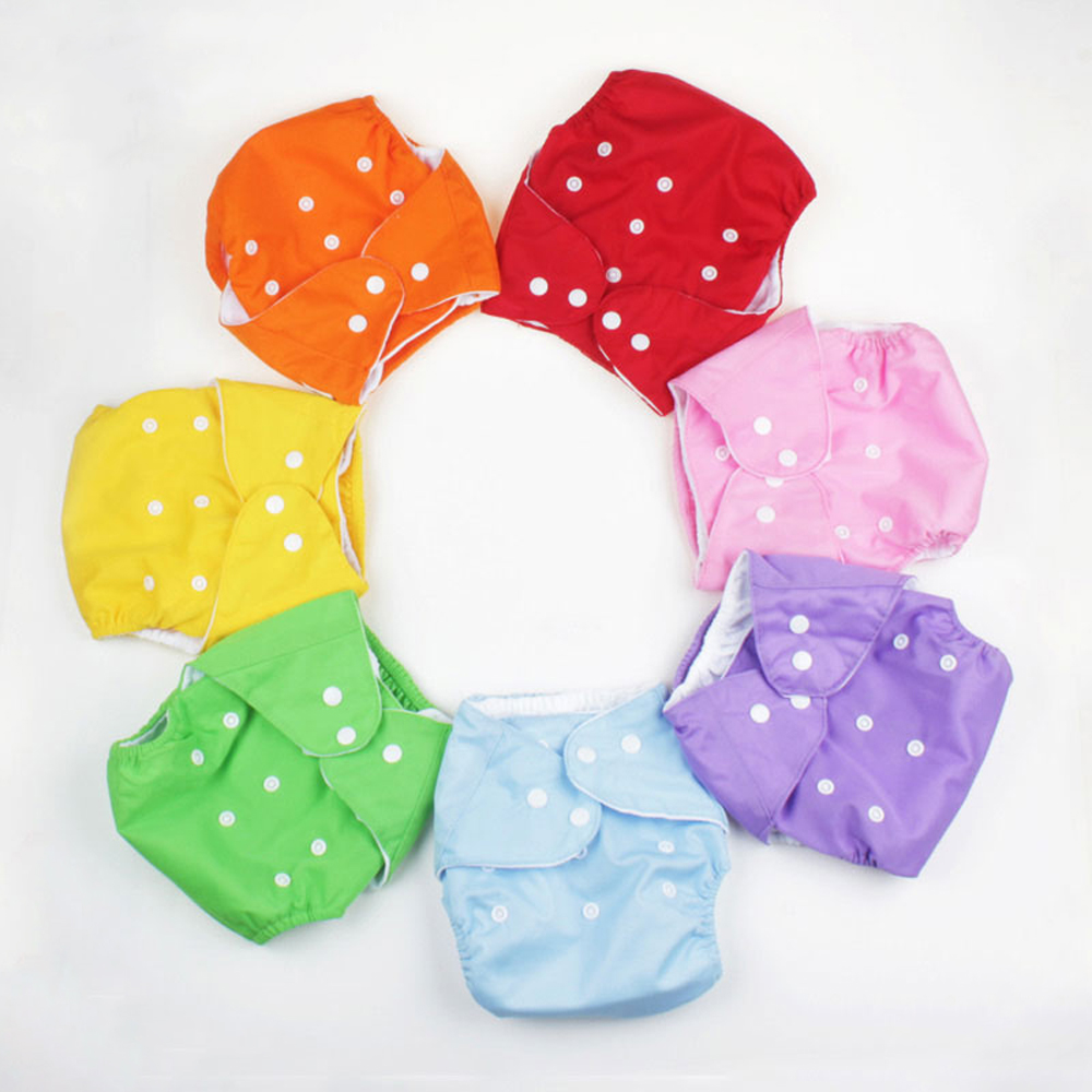1Pc Reusable Nappies Cloth Diapers Solid Baby Diapers For Newborns Cotton Muslin Washable Diaper Training Pants Ecological Pant