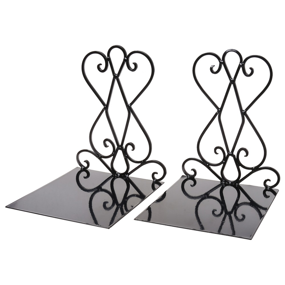 1 Pair Portable Metal Bookends Book Stand Holder Desktop Rack Shelf For Home Office Supplies1 Pair Portable Metal Bookends Book Stand Holder Desktop Rack Shelf For Home Office Supplies