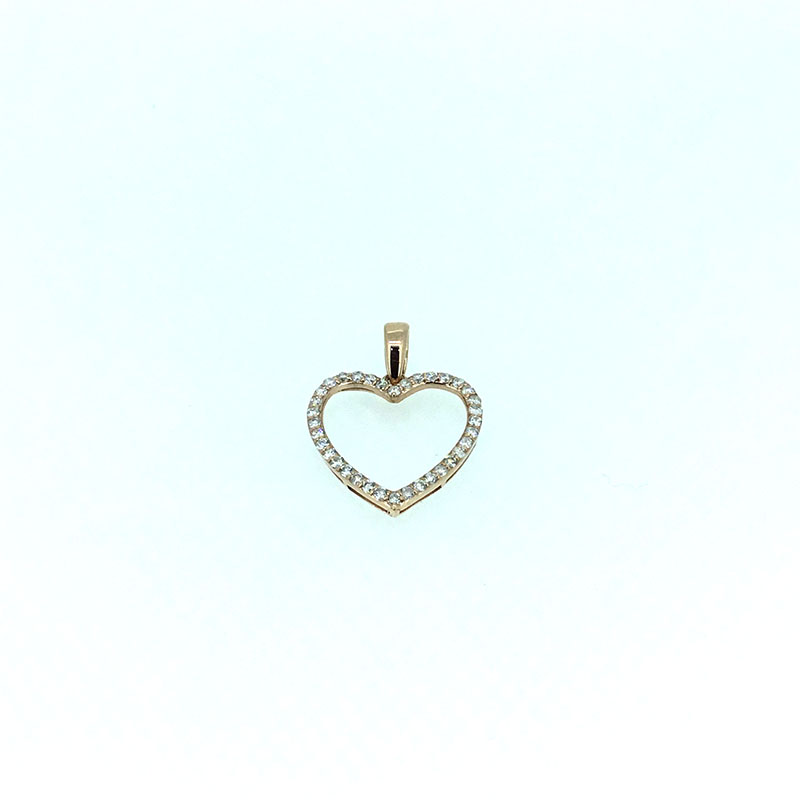 ANI 14K Rose/White/Yellow Gold (AU750) Wedding Pendant 0.381 ct I-J/SI Real Diamond 3 Color for Women Heart Shape Chain Necklace fashionable solid color antler shape pendant necklace for women