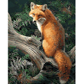 Digital Diy oil painting by numbers landscape wall decor picture on canvas oil paint coloring by number drawing animals fox 8013