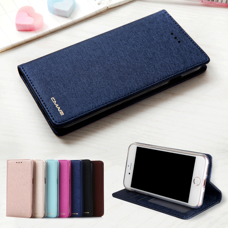 low priced ea50d 1763c US $4.21 5% OFF|For iPhone 7 Case Leather Silk Magnetic Flip Wallet Case  Cover For iPhone 6 6S 7 8 Plus X XS XR XS Max Case With Stand Card Slot-in  ...