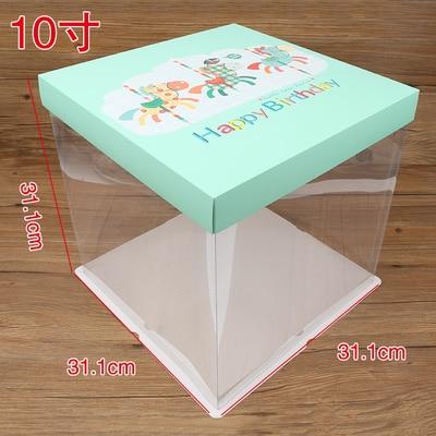 5 pièces 4-6-8-10 pouces anniversaire fromage boîte cadeau/snack/Portable boîtes avec filets