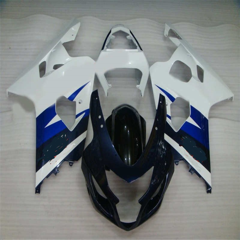 blue black white kit K4 2004 2005 gsxr600 gsxr750 fairings kits 04 05 plastics ABS plastic