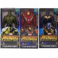 "12 ""Avengers: końcówki Thanos Hulkbuster Hulk Robert Bruce Banner pcv Action figurka – model kolekcjonerski skrzynka na zabawki 30 CM B828"