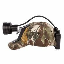 Kohree 18650 סוללה Cree LED ציד פנס נטענת Zoomable פנס עם טורף חזיר ציד קמפינג אור + רך כובע