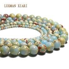 303df6dd73e8 Venta al por mayor de cuentas de piedra Natural azul redonda de piel de  serpiente para hacer joyas 4 6 8 10 12mm DIY pulsera col.