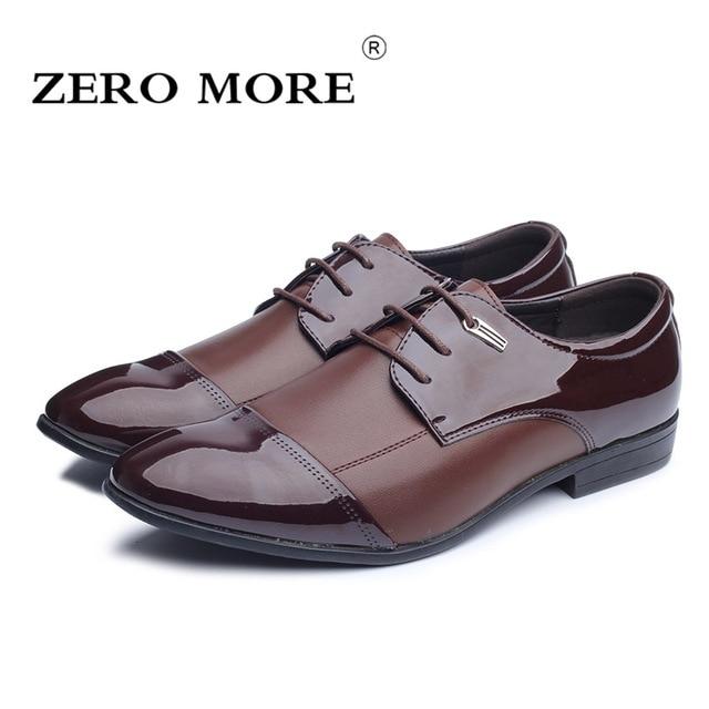 57f98d7d ZERO MORE zapatos para Hombre Tallas grandes gran venta puntiagudos encaje  hasta zapatos casuales sólidos hombres