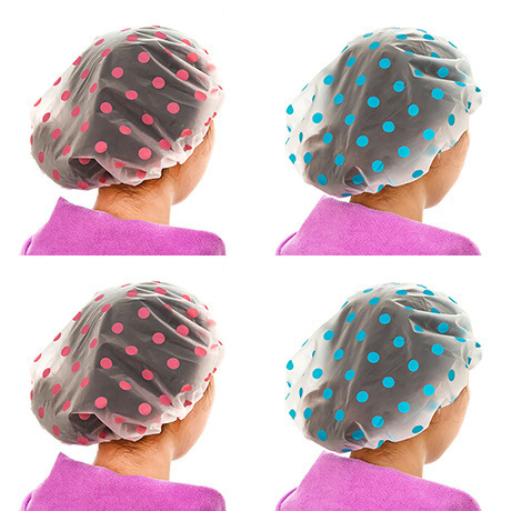 Women Ladies Clear Bath Spa Caps Elastic Waterproof Hats Comfortable Lovely Cartoon Shower Caps Bathing Bathroom Products