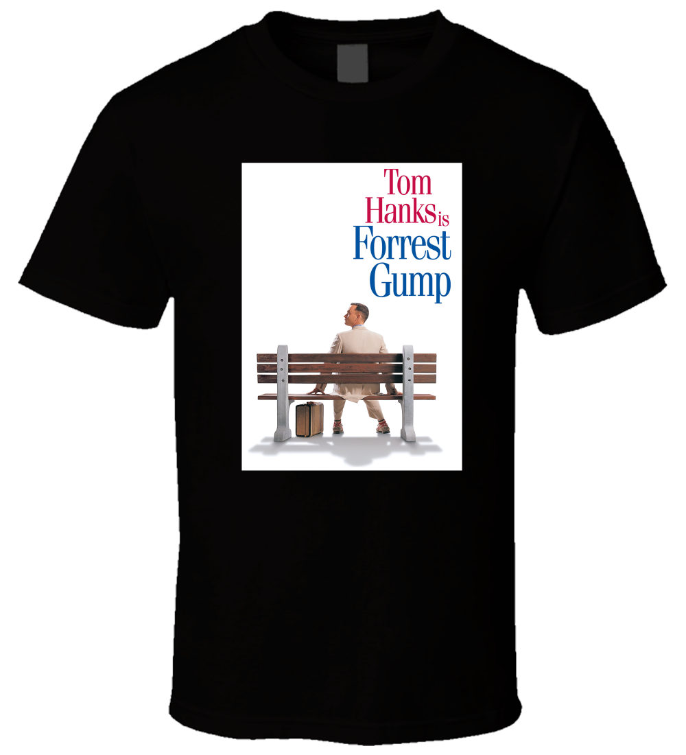 Forrest Gump 1 New Hot Sale Black Men T Shirt Cotton Size S - 3XL Hip-Hop Simple Splicin ...