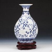 1PCS Ceramics antique blue and white exquisite porcelain vase New Classical Chinese living room decorative handicraft LU602500
