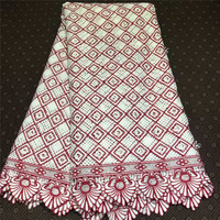 New Design Nigeria Wedding African Lace Beaded Fabric Embroidery Mesh Tulle Lace Fabric With Stones French Net Lace Fabric