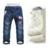 2016 Nuevos Bebés de los pantalones Vaqueros de Invierno Pantalones de Cachemir Cálido Niños Denim Pantalones de Jean Pantalones de Los Niños Para Los Niños 3-7 Años de Edad
