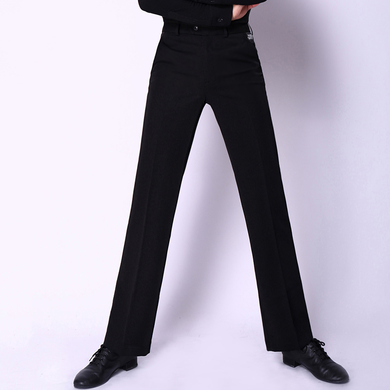 Latin Dance Pants Men Black Slim Trousers Salsa Chacha Tango Ballroom Dancing Clothing Male Competition Performance Wear DN2863