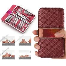 4 Colors 18 in 1 pcs Nail Clipper Kit Care Set Pedicure Scissor Tweezer Knife Ear pick Utility Manicure Tools